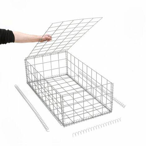 Gabion en kit - 50 cm x 100 cm x 30 cm - différentes mailles disponibles - Rinno Gabion
