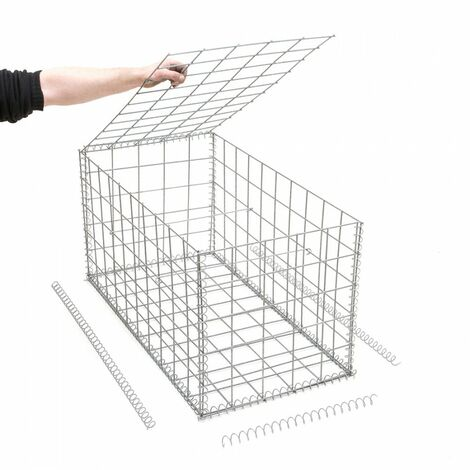 Gabion en kit - 50 cm x 100 cm x 50 cm - différentes mailles disponibles - Rinno Gabion