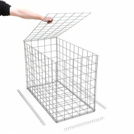 Gabion en kit - 50 cm x 100 cm x 70 cm - différentes mailles disponibles - Rinno Gabion