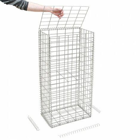 Gabion en kit - 50 cm x 30 cm x 100 cm - différentes mailles disponibles - Rinno Gabion