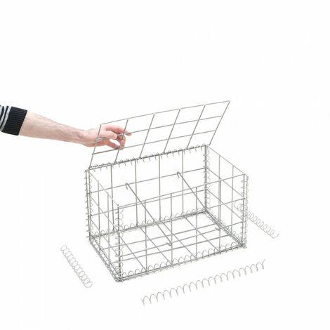 Gabion en kit - 50 cm x 30 cm x 30 cm - différentes mailles disponibles - Rinno Gabion
