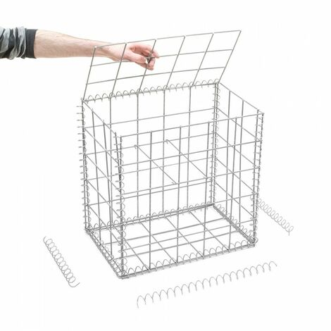 Gabion en kit - 50 cm x 30 cm x 50 cm - différentes mailles disponibles - Rinno Gabion