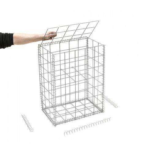 Gabion en kit - 50 cm x 30 cm x 70 cm - différentes mailles disponibles - Rinno Gabion