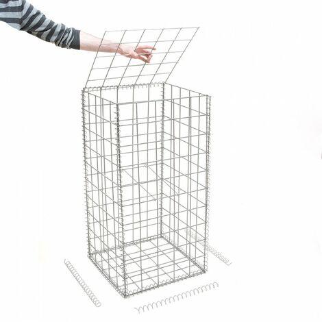 Gabion en kit - 50 cm x 50 cm x 100 cm - différentes mailles disponibles - Rinno Gabion
