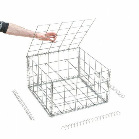 Gabion en kit - 50 cm x 50 cm x 30 cm - différentes mailles disponibles - Rinno Gabion