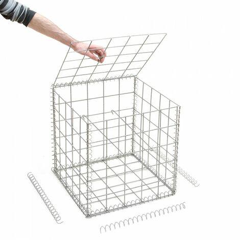 Gabion en kit - 50 cm x 50 cm x 50 cm - différentes mailles disponibles - Rinno Gabion