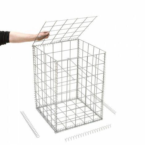 Gabion en kit - 50 cm x 50 cm x 70 cm - différentes mailles disponibles - Rinno Gabion