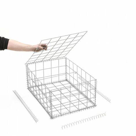 Gabion en kit - 50 cm x 70 cm x 30 cm - différentes mailles disponibles - Rinno Gabion