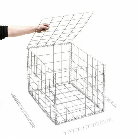 Gabion en kit - 50 cm x 70 cm x 50 cm - différentes mailles disponibles - Rinno Gabion
