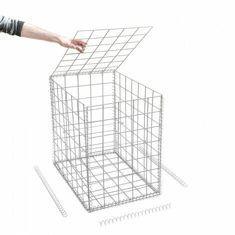 Gabion en kit - 50 cm x 70 cm x 70 cm - différentes mailles disponibles - Rinno Gabion