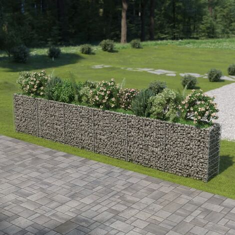 Gabion Metal Planter Box by Freeport Park - Silver