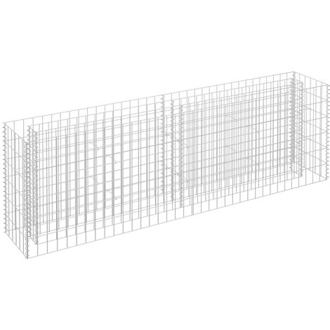 Gabion Planter Galvanised Steel 180x30x60 cm