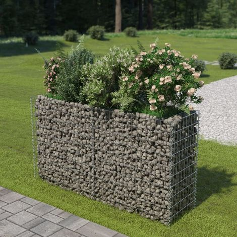 Gabion Planter Galvanised Steel 180x50x100 cm