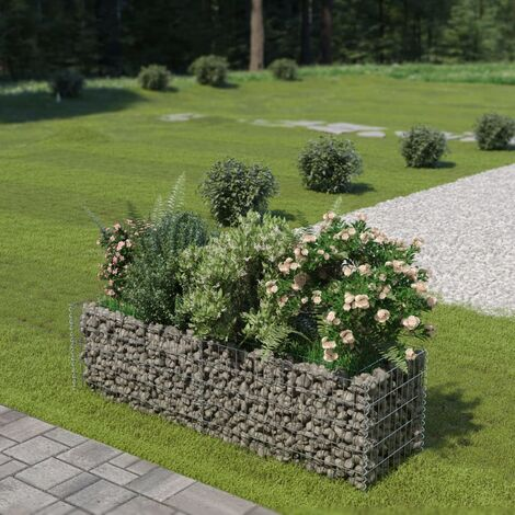 Gabion Planter Galvanised Steel 180x50x50 cm