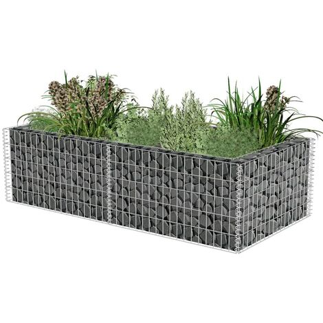 Gabion Planter Galvanised Steel 180x90x50 cm