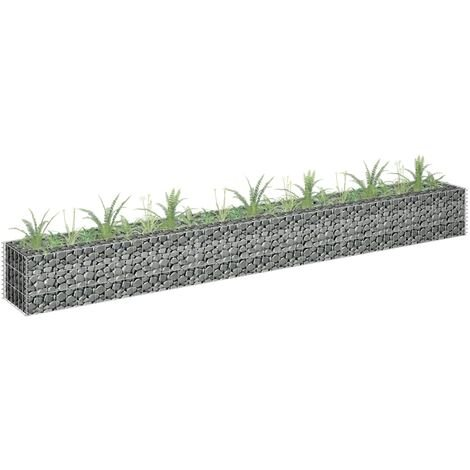 Gabion Planter Galvanised Steel 270x30x30 cm