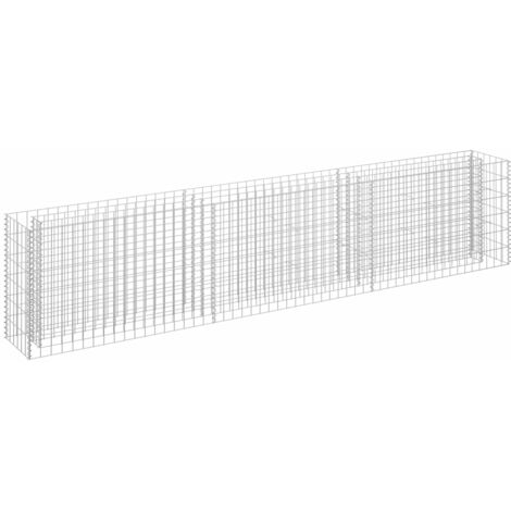 Gabion Planter Galvanised Steel 270x30x60 cm