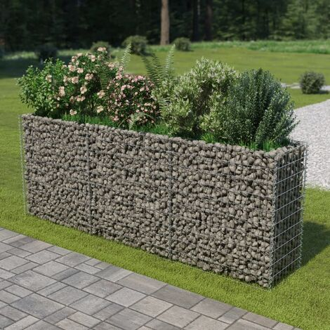 Gabion Planter Galvanised Steel 270x50x100 cm
