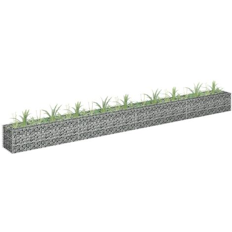 Gabion Planter Galvanised Steel 360x30x30 cm