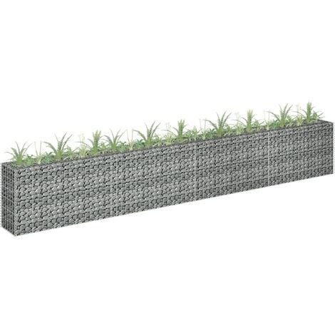 Gabion Planter Galvanised Steel 360x30x60 cm