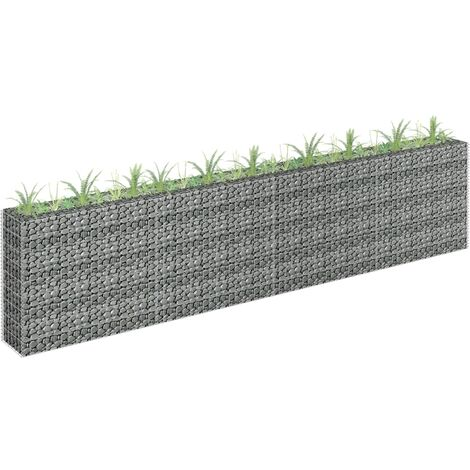Gabion Planter Galvanised Steel 360x30x90 cm