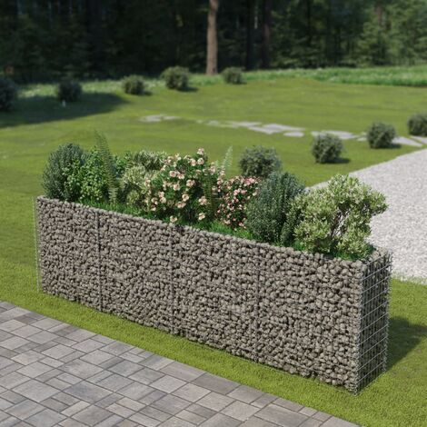 Gabion Planter Galvanised Steel 360x50x100 cm