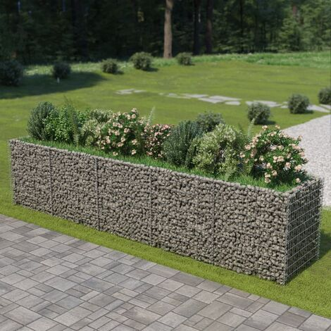 Gabion Planter Galvanised Steel 450x90x100 cm