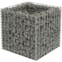 Gabion Planter Galvanised Steel 50x50x50 cm