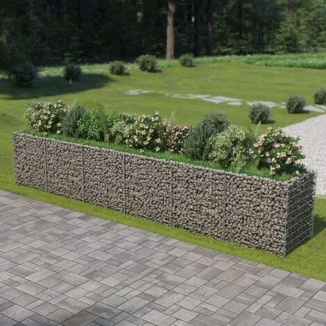 Gabion Planter Galvanised Steel 540x90x100 cm