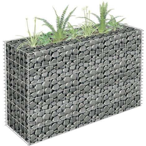 Gabion Planter Galvanised Steel 90x30x60 cm
