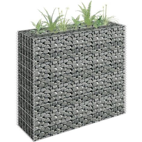 Gabion Planter Galvanised Steel 90x30x90 cm