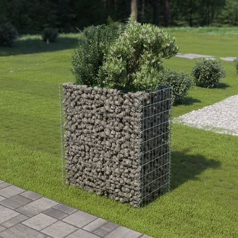Gabion Planter Galvanised Steel 90x50x100 cm