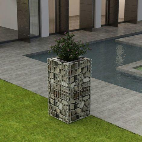 Gabion Planter Steel 50x50x100 cm