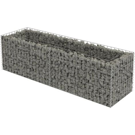 Gabion Raised Bed Galvanised Steel 180x50x50 cm
