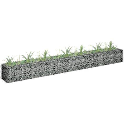 Gabion Raised Bed Galvanised Steel 270x30x30 cm - Silver
