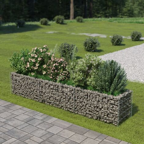 Gabion Raised Bed Galvanised Steel 270x50x50 cm