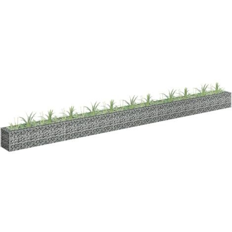Gabion Raised Bed Galvanised Steel 450x30x30 cm - Silver