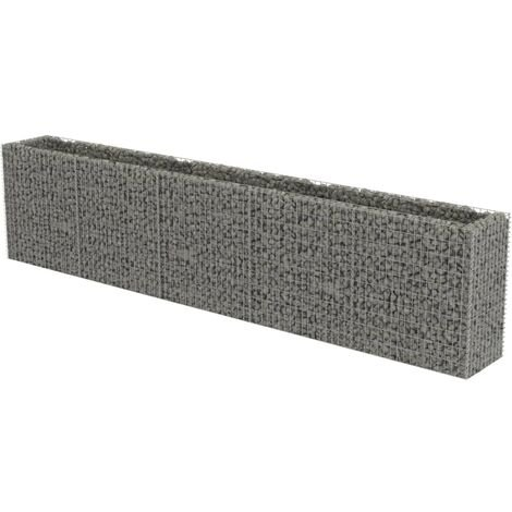 Gabion Raised Bed Galvanised Steel 450x50x100 cm