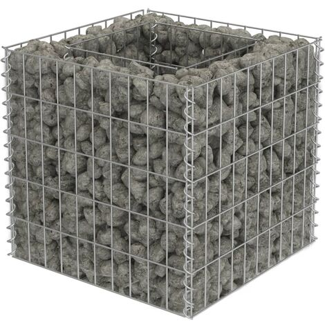 Gabion Raised Bed Galvanised Steel 50x50x50 cm