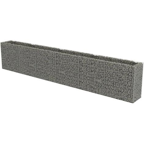 Gabion Raised Bed Galvanised Steel 540x50x100 cm