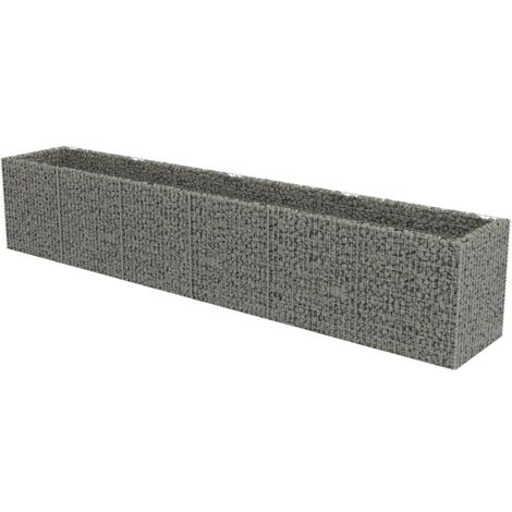 Gabion Raised Bed Galvanised Steel 540x90x100 cm