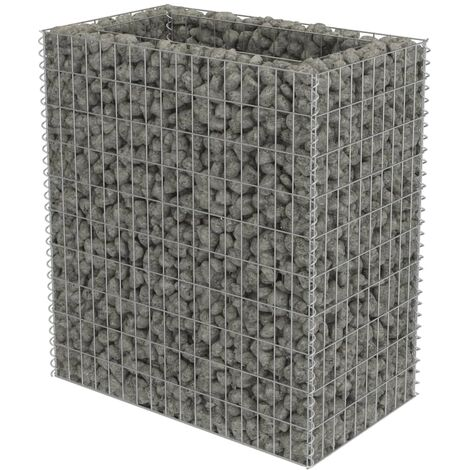 Gabion Raised Bed Galvanised Steel 90x50x100 cm