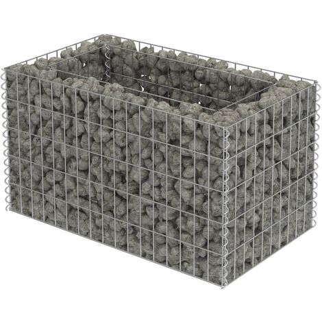 Gabion Raised Bed Galvanised Steel 90x50x50 cm