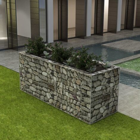 Gabion Raised Bed Steel 270x90x100 cm