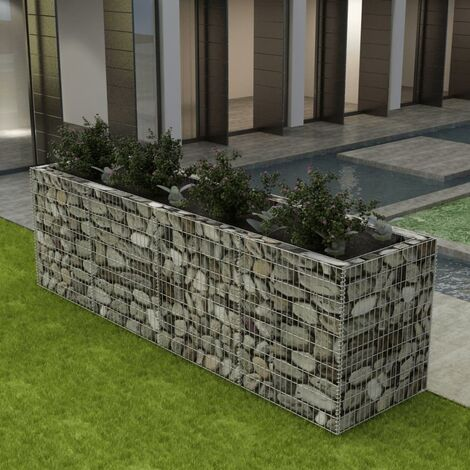 Gabion Raised Bed Steel 360x90x100 cm