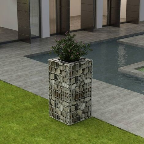 Gabion Raised Bed Steel 50x50x100 cm