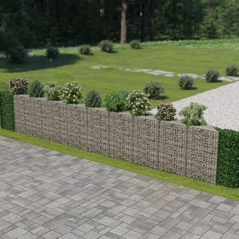 Gabion Wall Galvanised Steel 630x30x100 cm