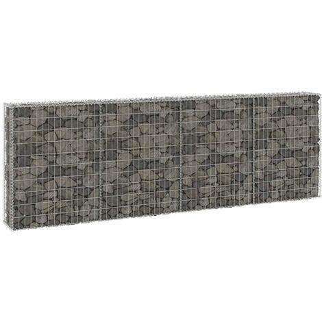 Gabion Wall with Covers Galvanised Steel 300x30x100 cm