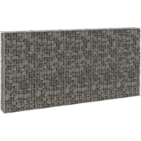 Gabion Wall with Covers Galvanised Steel 300x30x150 cm