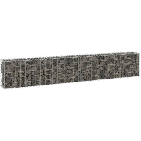 """main image of """"Gabion Wall with Covers Galvanised Steel 300x30x50 cm"""""""